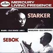 JANOS STARKER BRAHMS SONATAS FOR CELLO & PIANO LP