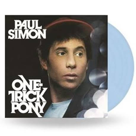 Paul Simon One Trick Pony LP - Blue Vinyl-