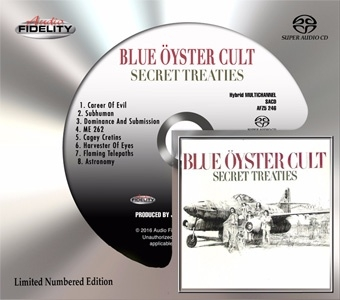 The Blue Oyster Cult Secret Treaties Numbered, Limited Edition Hybrid Multi-Channel & Stereo SACD
