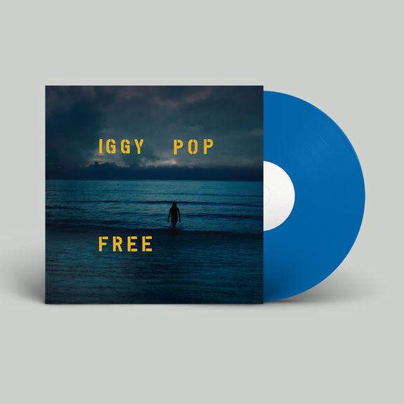 Iggy Pop Free LP - Blue Vinyl-  Actie-
