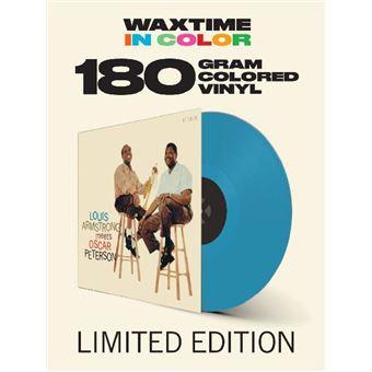 Louis Armstrong Meets Oscar Peterson LP - Blue Vinyl-