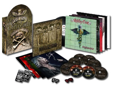 Motley Crue The End 180g 6LP, 7CD, 1DVD Box Set