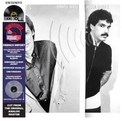 Hall & Oates Voices LP - Clear Vinyl-