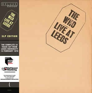 The Who Live At Leeds 3LP ltd- Half Speed Masters-