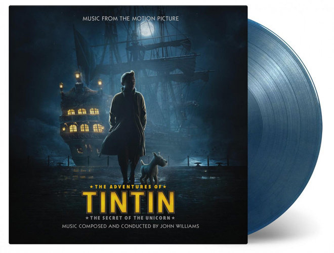john Williams The Adventures Of TinTin: The Secret Of The Unicorn Numbered Limited Edition 180g 2LP (Blue & Gold Vinyl)
