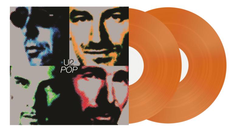 U2 Pop 180g 2LP -Orange Vinyl-