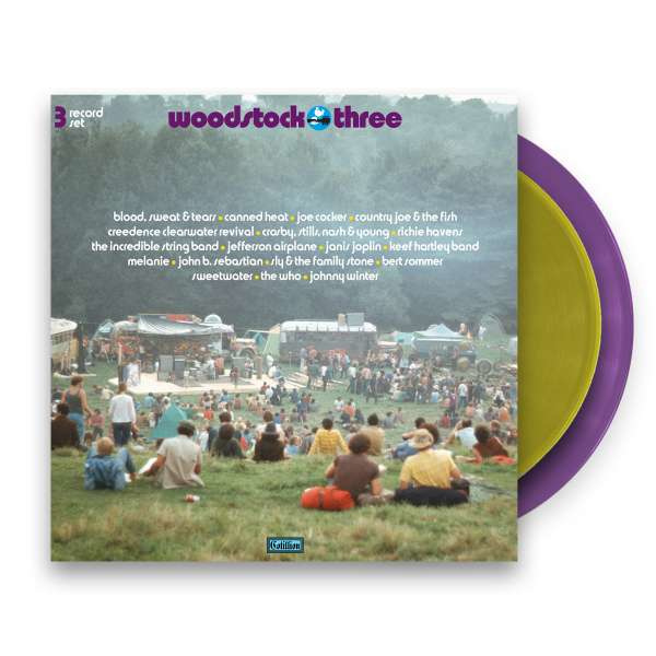 Woodstock III 3LP - Purple/Gold Vinyl -