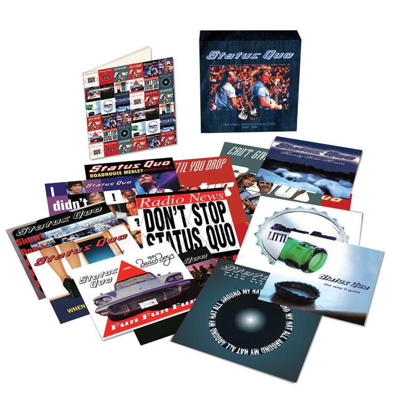 Status Quo Vinyl Singles Collection 1990 - 1999 16 Singles Box Set