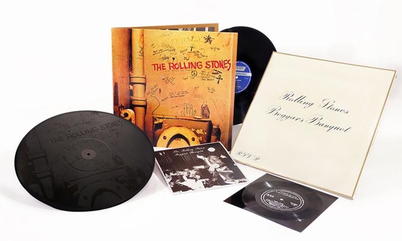 "The Rolling Stones Beggars Banquet 180g LP, 12"" Mono 45rpm, & 7"" Flexi Disc"