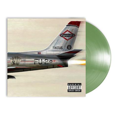 Eminem Kamikaze LP - Olive Green Vinyl-