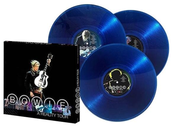 David Bowie A Reality Tour 180g 3LP Box Set (Translucent Blue Vinyl)