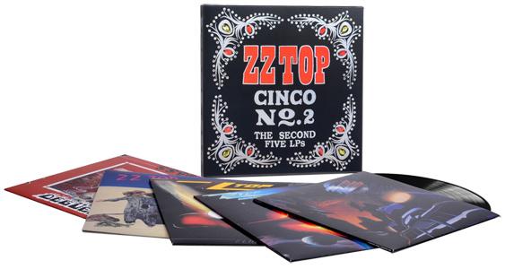 ZZ Top Cinco No. 2: The Second Five LPs 180g 5LP Set