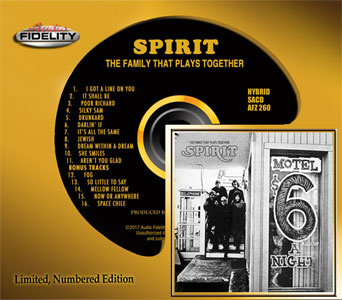 Spirit The Family That Plays Together Numbered Limited Edition Hybrid Stereo SACD