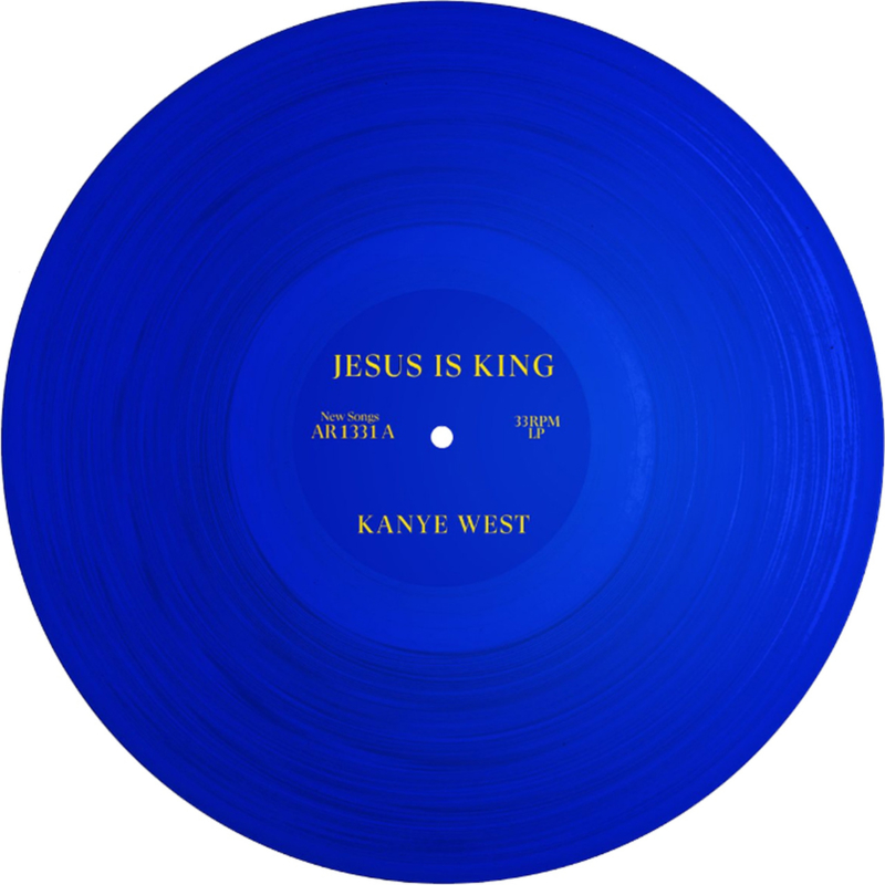 Kanye West Jesus Is King LP - Blue Vinyl-