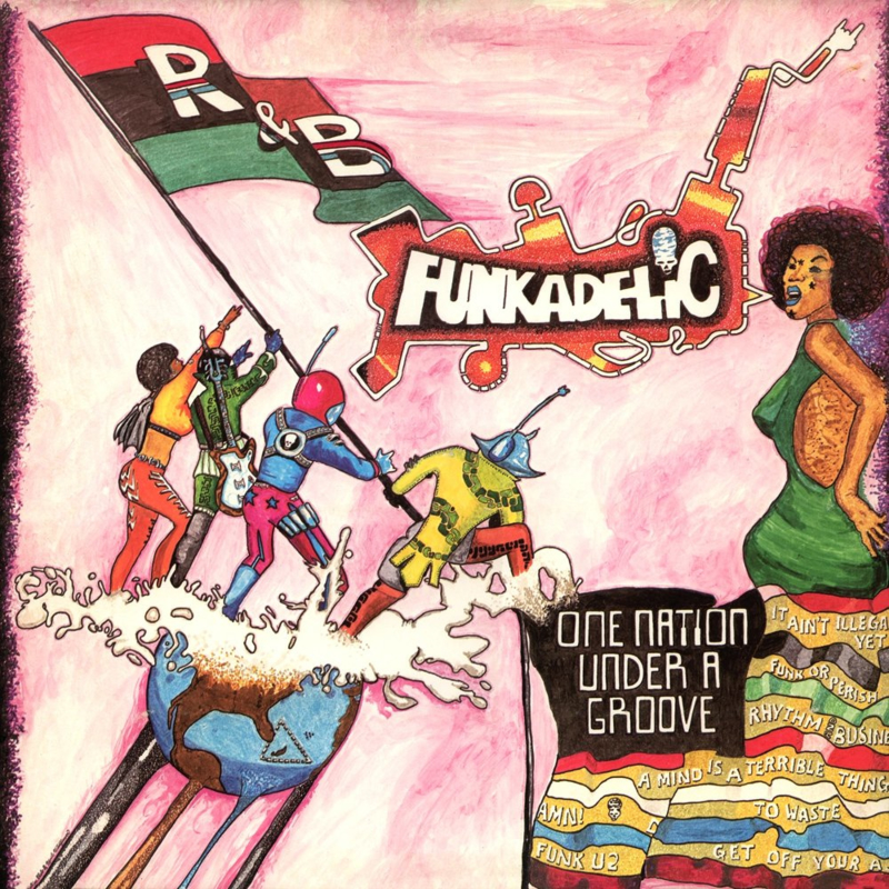 """Funkadelic One Nation Under A Groove LP + 7"""""""