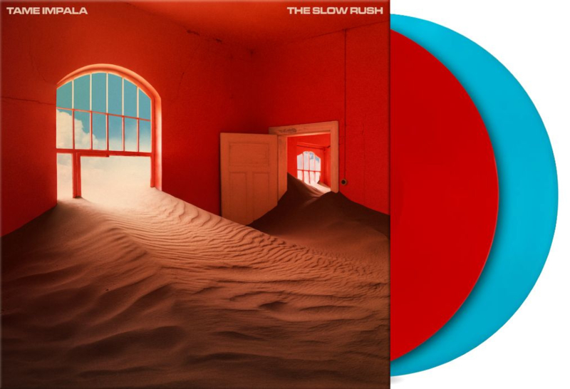 Tame Impala The Slow Rush 2LP - Red & Blue Vinyl-