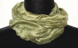 Zijden sjaal legergroen