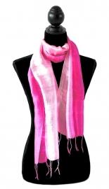 Zijden sjaal multicolor roze