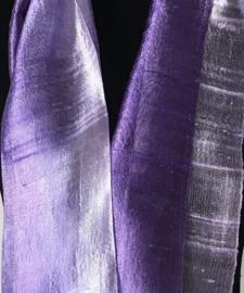 Zijden sjaal multicolor lila-paars