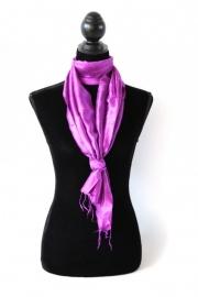 Zijden sjaal cyclaam