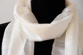 Zijden sjaal off-white