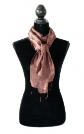 Zijden sjaal bruin