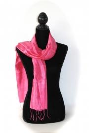 Zijden sjaal roze