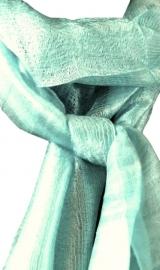Zijden sjaal mintgroen