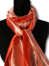 Zijden sjaal multicolor oranje
