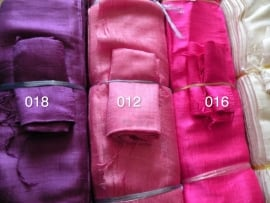 Zijden sjaal fluorroze