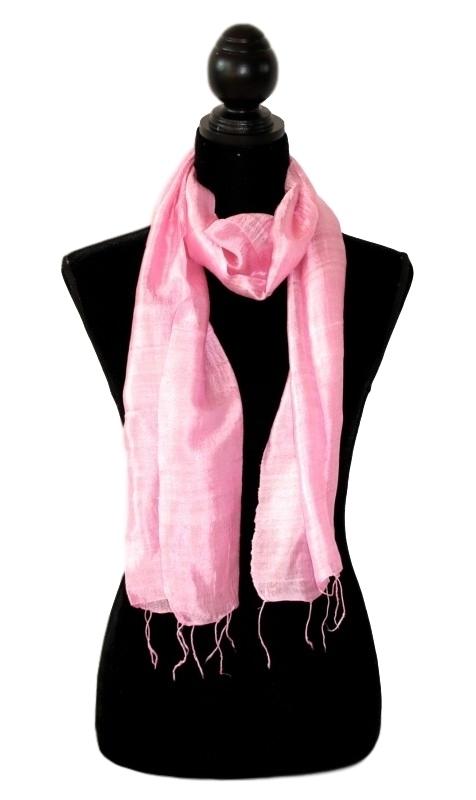 Zijden sjaal babyroze