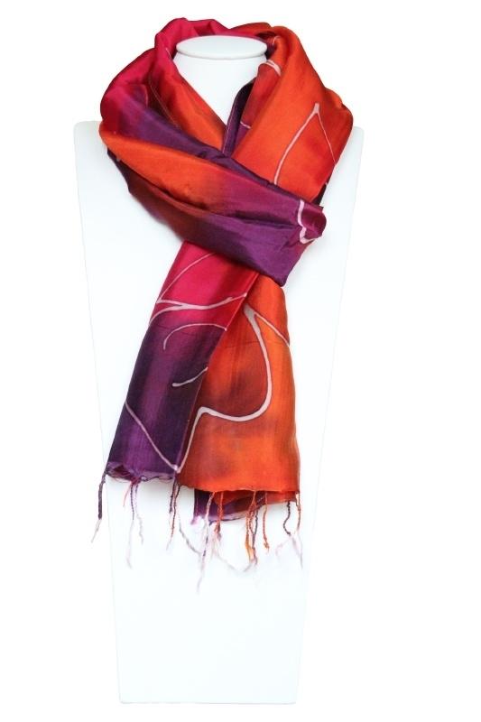 Zijden sjaal 'batik'