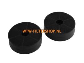 508-900752 Itho/Novy Filter  afzuigkap  (koolstoffilter rond, 2 stuks) 6200055