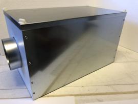 Airclean filterbox HQ 606 tegen houtrook bij balansventilatie | 150 mm.