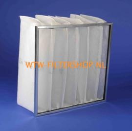 Zakkenfilters G3 metalen frame - Serie MFZ