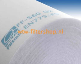 WTW Filterdoek G4 - 1000 x 2000 x 20 mm.