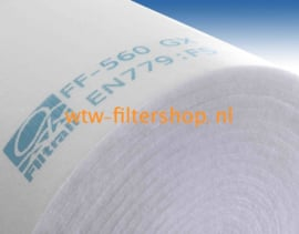 WTW Filterdoek G3 -  700 x 2000 x 5 mm.