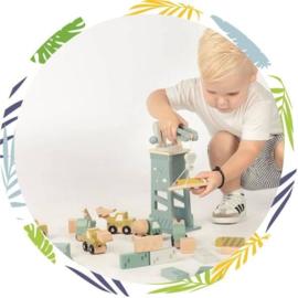 Label-label Houten constructie set
