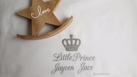 Lakentje met naam: Little Prince / Princess