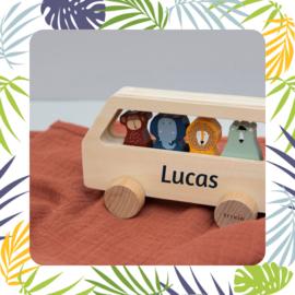 Trixie - houten bus met dieren