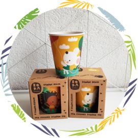 Bamboe beker - Geel