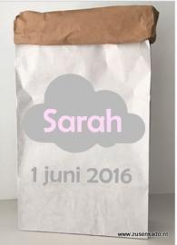 Paperbag wolk met naam