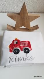 Lakentje met naam:  brandweer auto