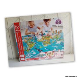 2-in-1 wereldkaartpuzzel en spel