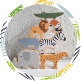 Houten stapeldieren safari