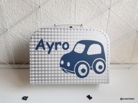 koffertje met naam: auto