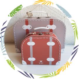 BamBam reiskoffertje roestbruin - klein
