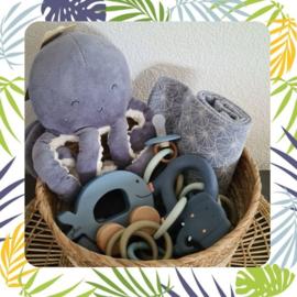 kraamkado pakket  blauw octopus