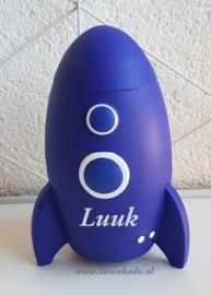Spaarpot Raket blauw