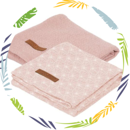 Little Dutch swaddle lily leaves pink